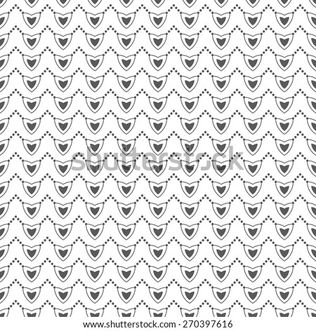 Seamless pattern. Stylish geometric texture with the repeating hearts, ovals, ellipses, dots. Monochrome. Backdrop. Web. Vector illustration for your design - stock vector