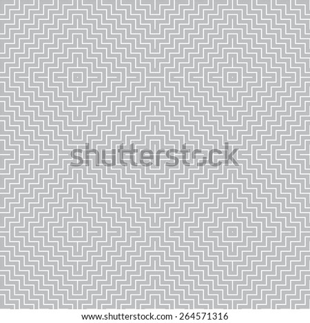 Seamless pattern. Stylish geometric texture with thin curved lines in the form of tiles. Repeated diamonds and crosses. Monochrome. Backdrop. Web. Vector illustration - stock vector