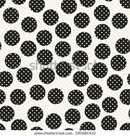 Seamless pattern. Stylish polka dot texture. Background with chaotic circles - stock vector