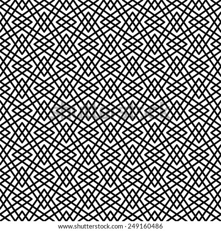 Seamless pattern. Stylish texture. Geometric pattern of intersecting bands in arabesque style.  - stock vector