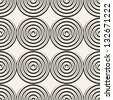 Seamless pattern. Stylish texture with volume rings. Vector repeating background - stock vector