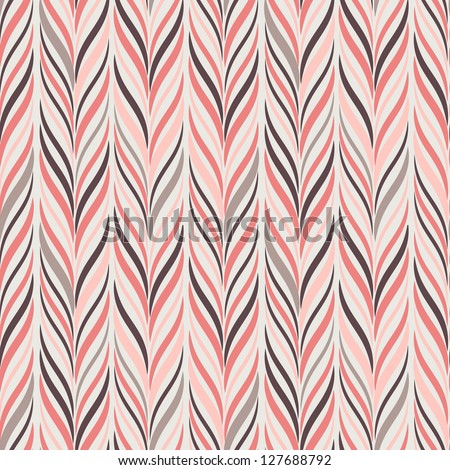 Seamless pattern. Texture of pastel wavy vertical stripes. Stylish abstract background. Modern wallpaper - stock vector