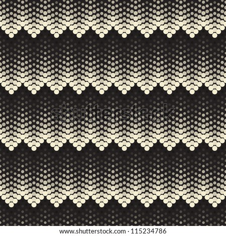 Seamless pattern. Tile volume texture made from points - stock vector