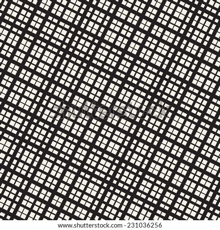 Seamless pattern. Vector abstract background. Repeating structure with diagonal monochrome grid - stock vector