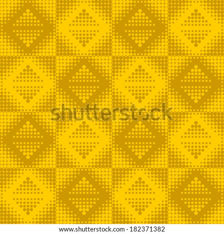 Seamless pattern. Vector halftone dots. - stock vector