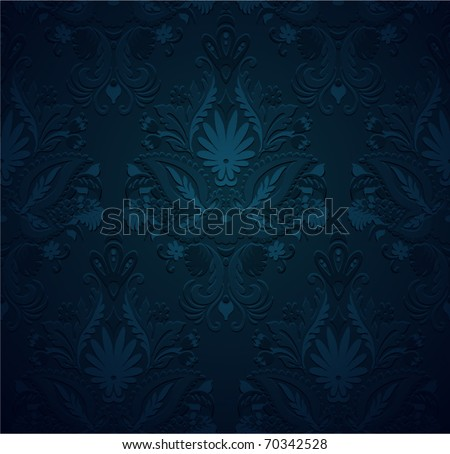 Seamless pattern vintage background, grunge ornament floral texture - stock vector