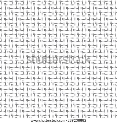 Seamless pattern. Vintage pixel texture. Regularly repeating geometrical elements, shapes, dots, zigzags. Monochrome. Backdrop. Web. Vector element of graphic design - stock vector
