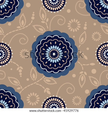 Seamless pattern. Will tile endlessly - stock vector