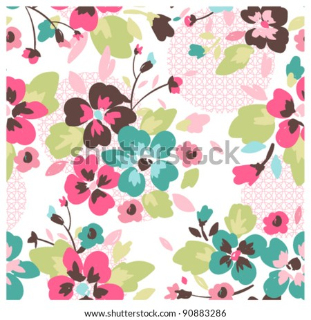 seamless pattern with abstract background - stock vector