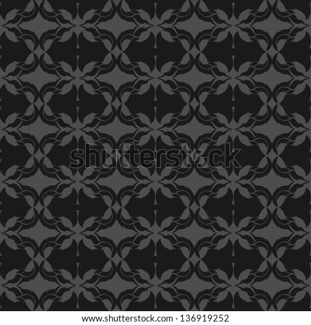 Seamless pattern with abstract ornament background. - stock vector