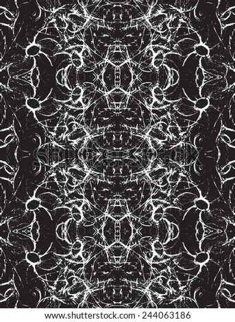 Seamless Pattern with Abstract Ornament. Vector Illustration. - stock vector