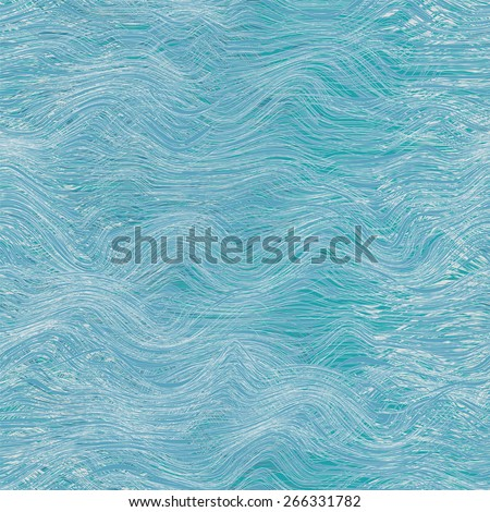 Seamless pattern with abstract sea waves in blue,white,grey colors - stock vector