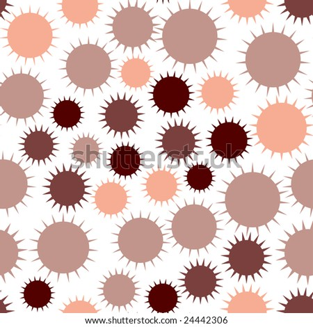 Seamless pattern with abstract spiked shapes - stock vector