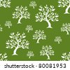 seamless pattern with abstract trees for your background - stock vector