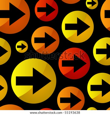 Seamless pattern with arrows - stock vector