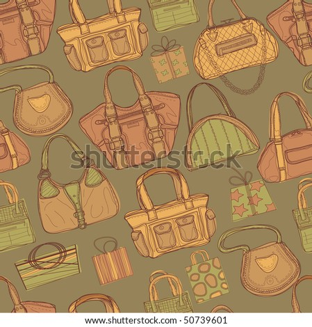 Seamless pattern with bags - stock vector