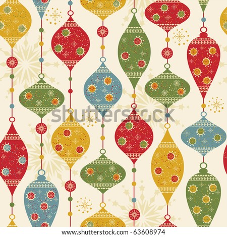 Seamless pattern with balls and stars - stock vector
