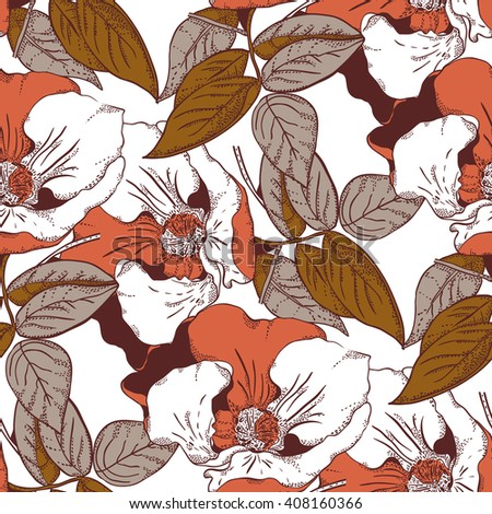 Seamless pattern with beautiful briar