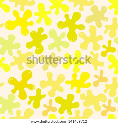 Seamless pattern with blots - stock vector