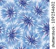 seamless pattern with blue cornflower - stock vector