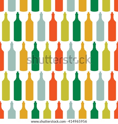 seamless pattern with bottles  - stock vector