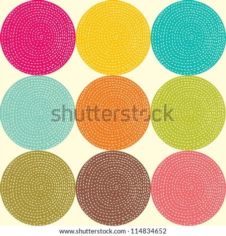 Seamless pattern with bright circles. Seamless pattern can be used for wallpaper, pattern fills, web page background, surface textures.