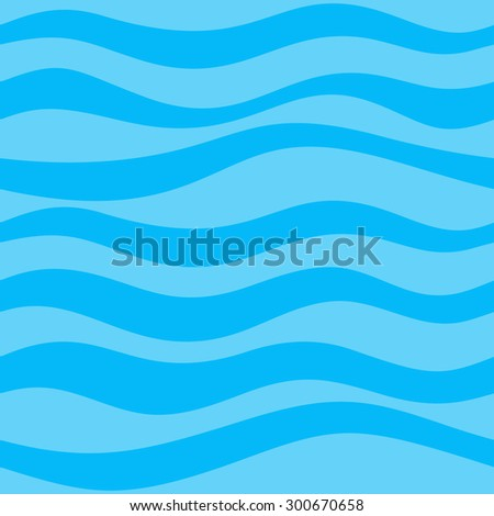 Genial Seamless Pattern With Calm Waves Blue Colours
