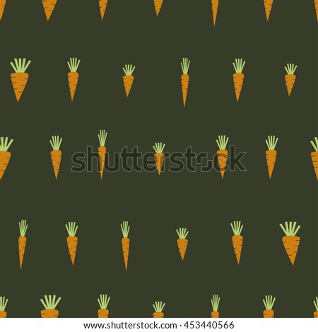 Seamless pattern with carrots. Cartoon illustration. vector   - stock vector