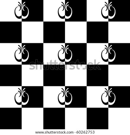Seamless pattern with checkered design. Vector illustration. - stock vector