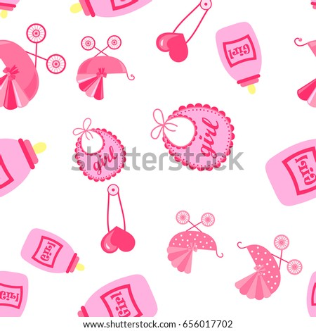 seamless pattern with child icons. Baby Wallpapers.