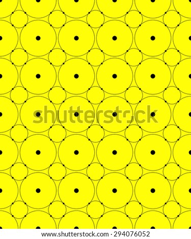 Seamless pattern with circles. Modern stylish texture. Vector background. Eps 10