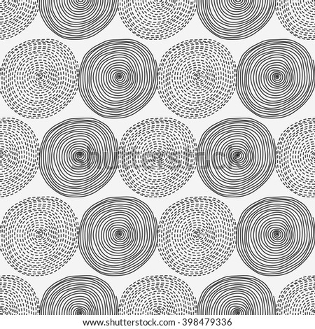 Seamless pattern with circles. Seamless pattern can be used for wallpaper, pattern fills, web page background, surface textures. - stock vector