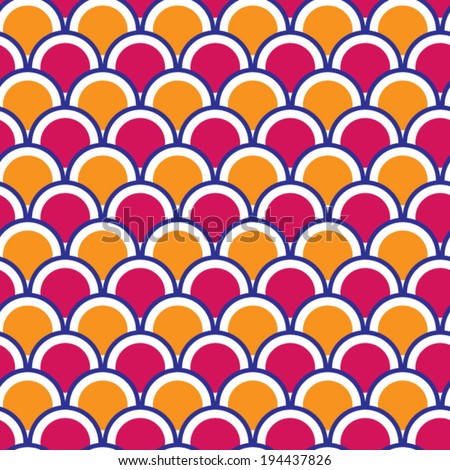 Seamless pattern with circles that overlap each other. Vector illustration. - stock vector