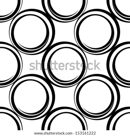 seamless pattern with circles, vector illustration - stock vector