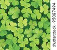 Seamless pattern with clover leaves for st.Patrick's Day. EPS-8 vector illustration. - stock photo