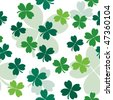 Seamless pattern with clover leaves for st. Patrick's day. Vector illustration - stock vector