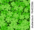 seamless pattern with clover leaves to the st. patrick`s day - stock photo