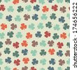 Seamless pattern with clover. St. Patrick's day background. Vector, EPS 8 - stock vector