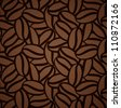 seamless pattern with coffee beans - stock vector