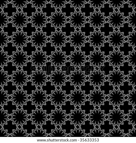 Seamless pattern with crosses and flowers. Vector. - stock vector