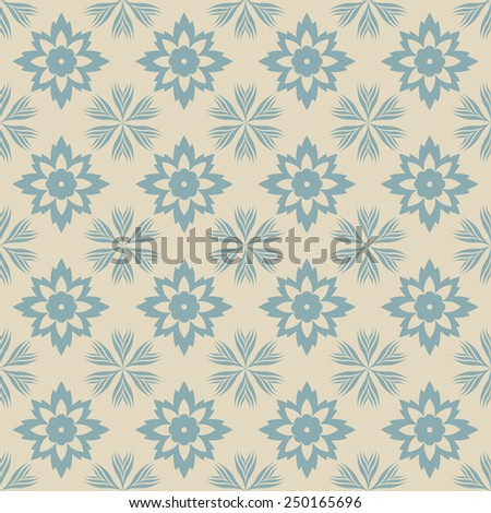 Seamless pattern with decorative ornament - stock vector