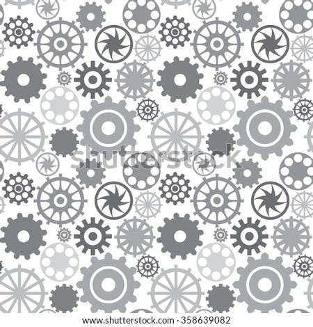 Seamless pattern with different wheels
