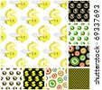Seamless pattern with dollar sign. Great collection. - stock vector
