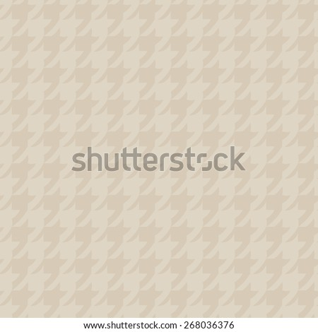 Seamless pattern with elements of classic style goose foot curved parts of the pattern beige and sand - stock vector