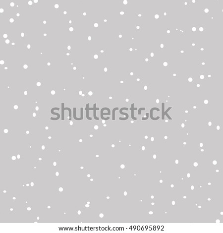 Seamless pattern with falling snowflakes on a gray background.Happy New Year background