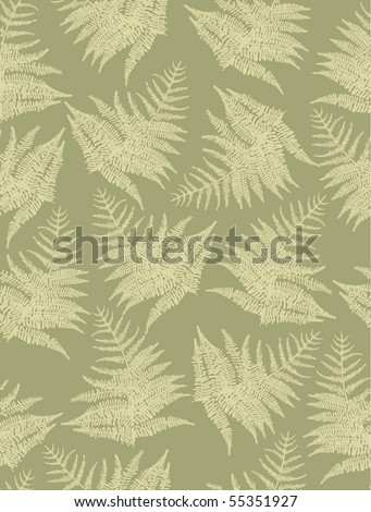Seamless pattern with fern plant - stock vector