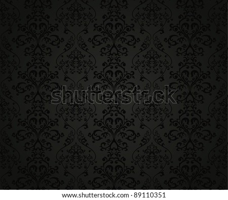 Seamless pattern with floral element in retro style - stock vector