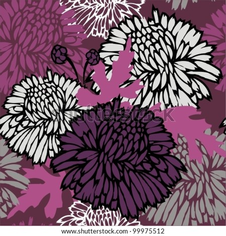 Seamless pattern with flowers. Floral background. - stock vector