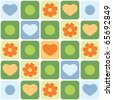 seamless pattern with flowers, vector - stock vector