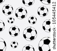 seamless pattern with football balls. Football infinite background - stock vector